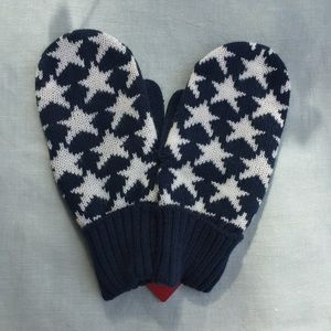 NWT Team USA Olympics Star red white blue mittens